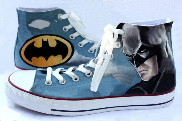 Batman Shoes - converse shoes - custom converse - customized converse
