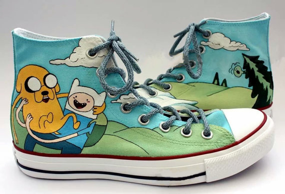 8ddecc84c958 Adventure Time Shoes - converse shoes - custom converse - customized  converse