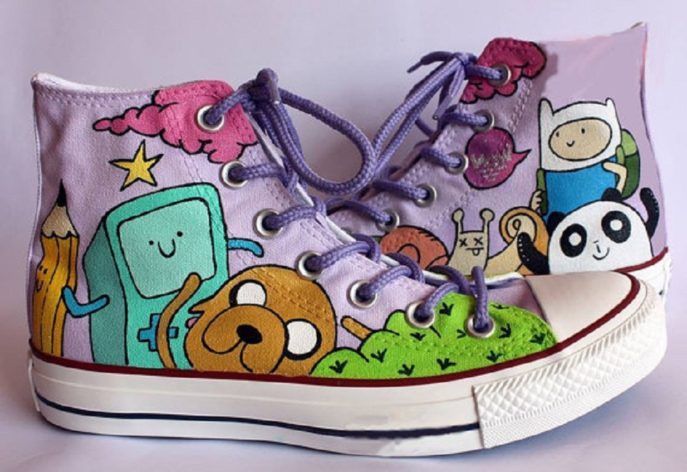 fe177a31bf3a16 Adventure time Shoes - converse shoes - custom converse - customized  converse