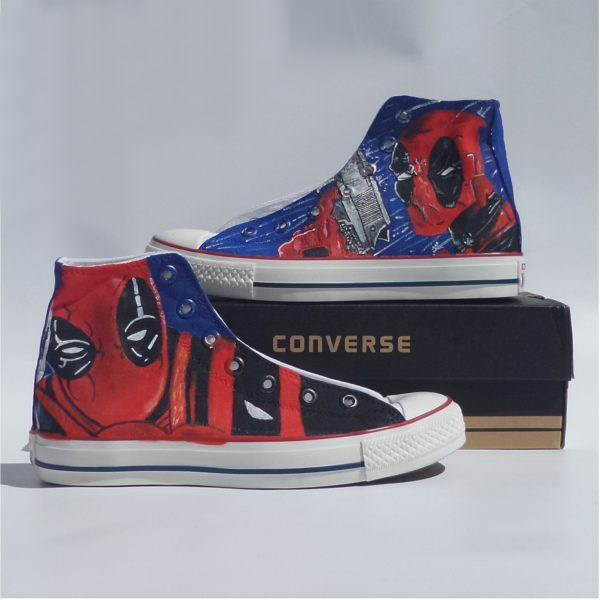 Deadpool Shoes - Handpainted Custom Converse