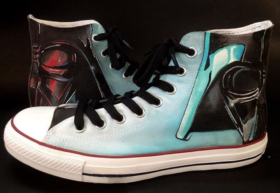 Star Wars Shoes - converse shoes - custom converse - customized converse