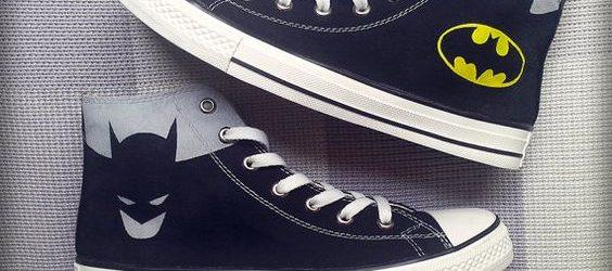 Batman Shoes - Custom Converse Hand Painted Shoes -Batman Shoes Custom Converse