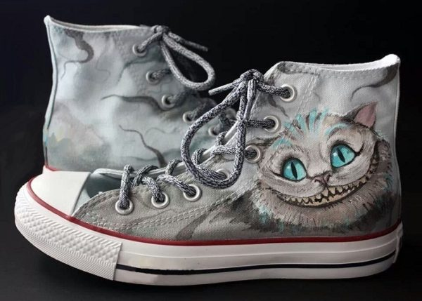 Cheshire Cat Shoes - converse shoes - custom converse - customized converse