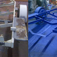 Boat trailer before and after