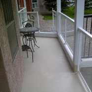 Concrete Deck Spray on Polyurethane