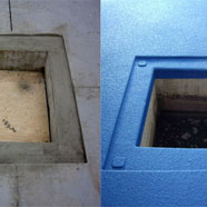 Floor Drain before and after