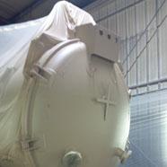 Masked Hydrovac vessel
