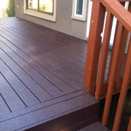 Polyurethane Covered Cedar Deck