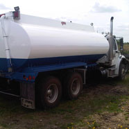 Water Truck Coating With Clear Coat