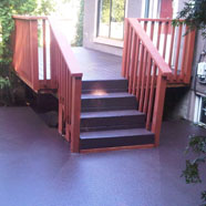 Wood Deck and Landing Walnut Polyurethane