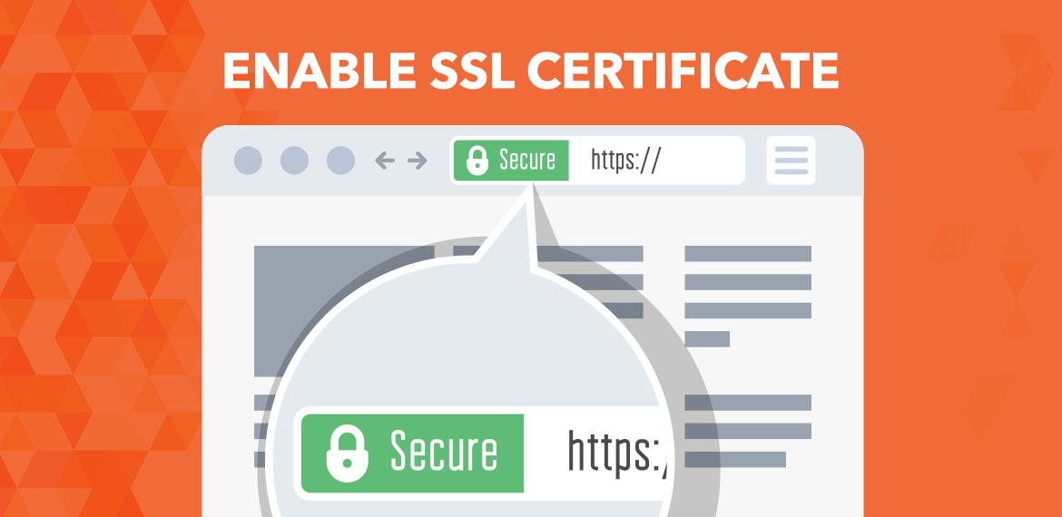 Enable SSL Certificate for SEO