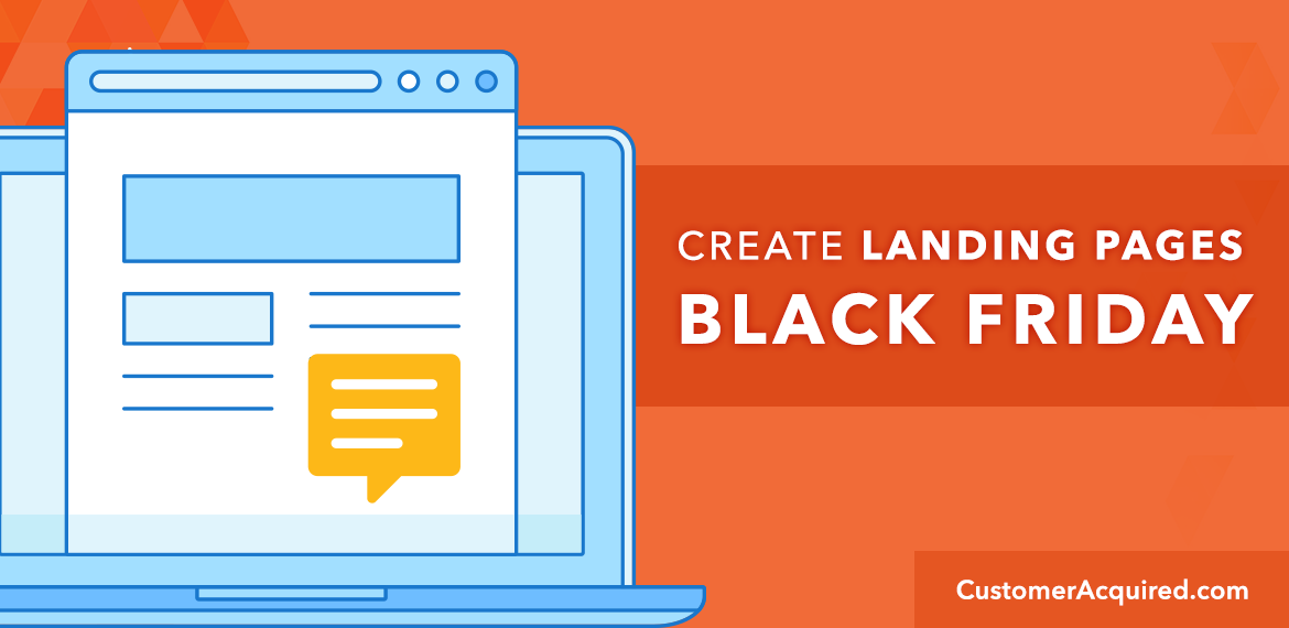 Create Landing Pages For Black Friday