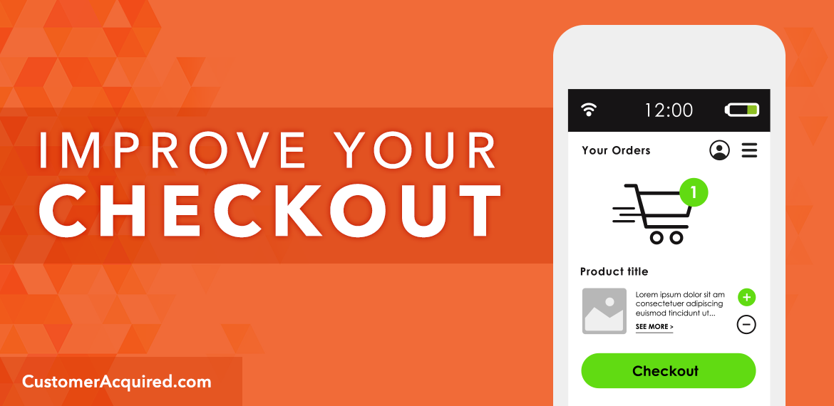Improve your checkout process on your ecommerce website to increase conversions