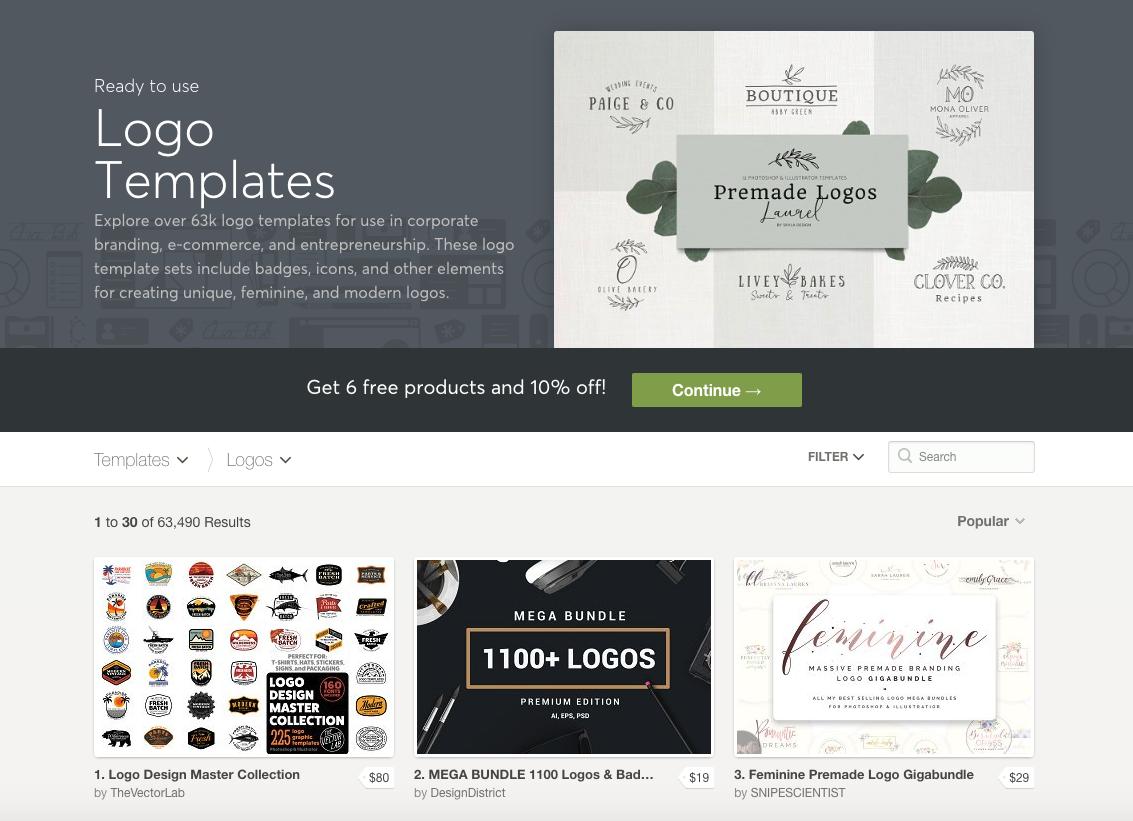 Buy a premade logo for your website logo