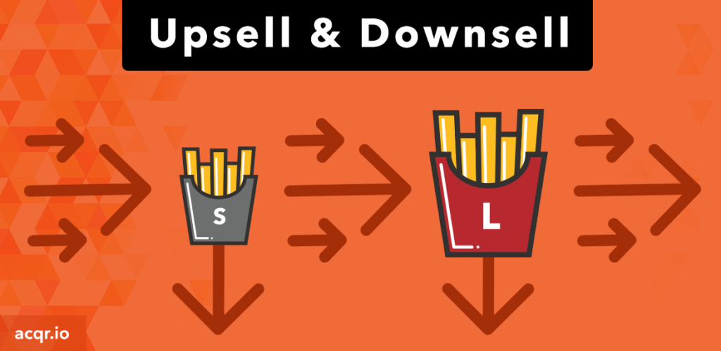 Online Sales Upsell and Downsell
