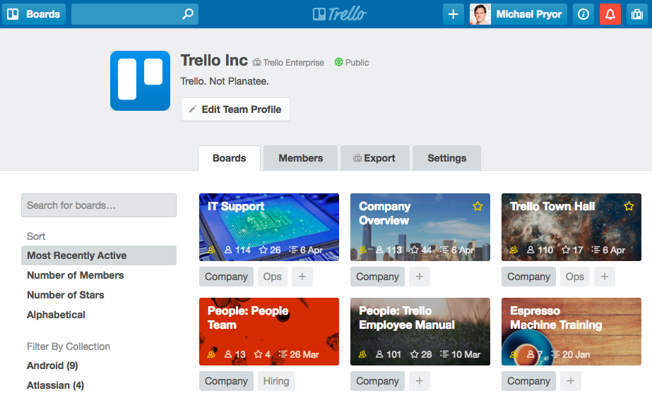 Project Management with Trello Boards