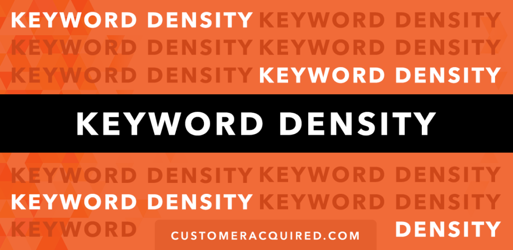 Keyword Density Guide 2019