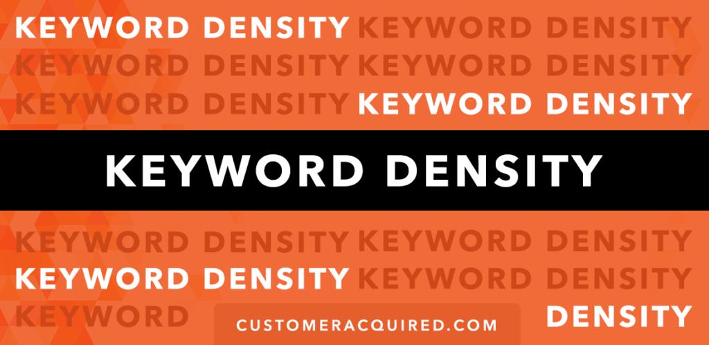 Keyword Density Guide 2019