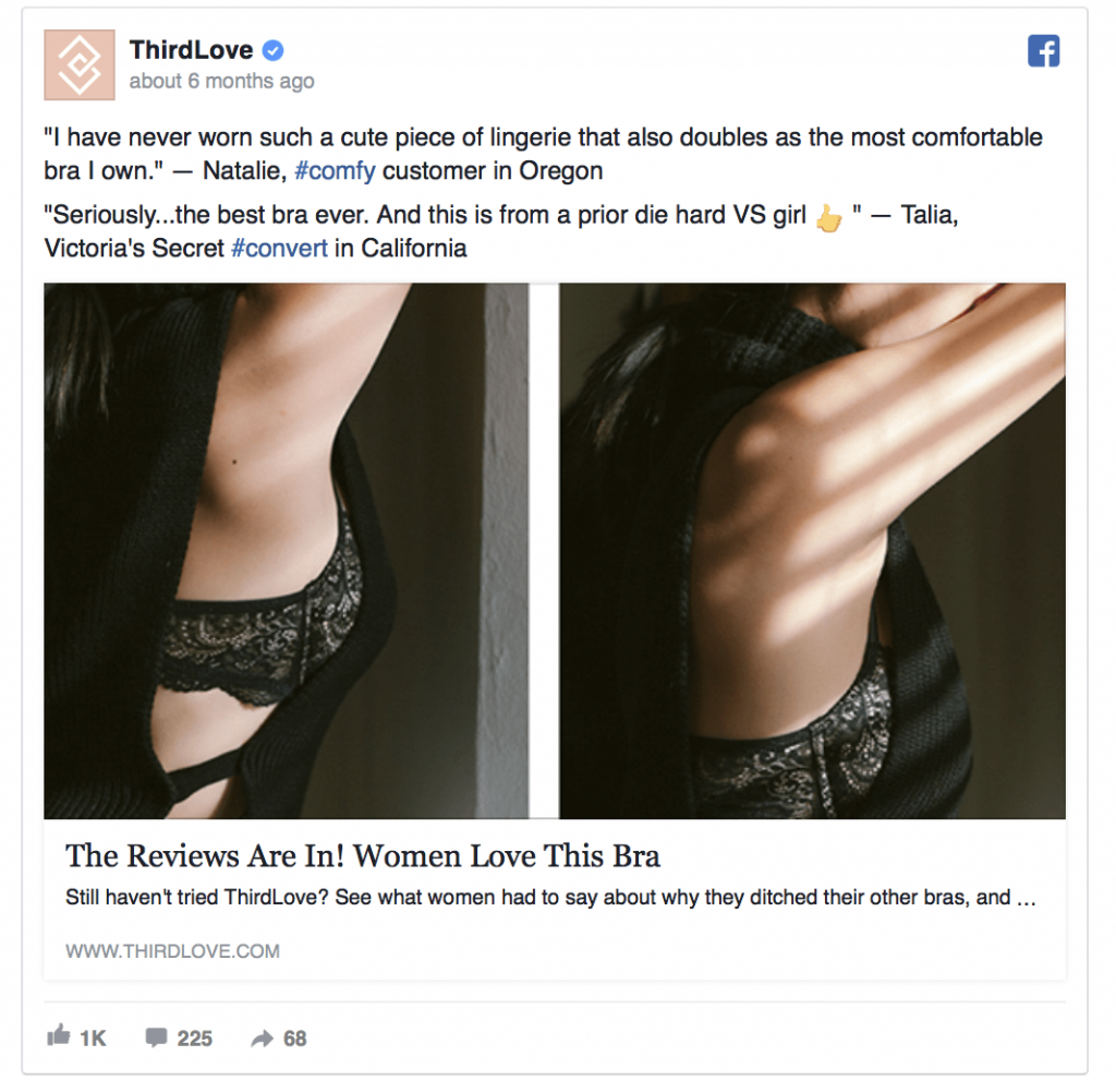 Facebook Ad Example Social Proof