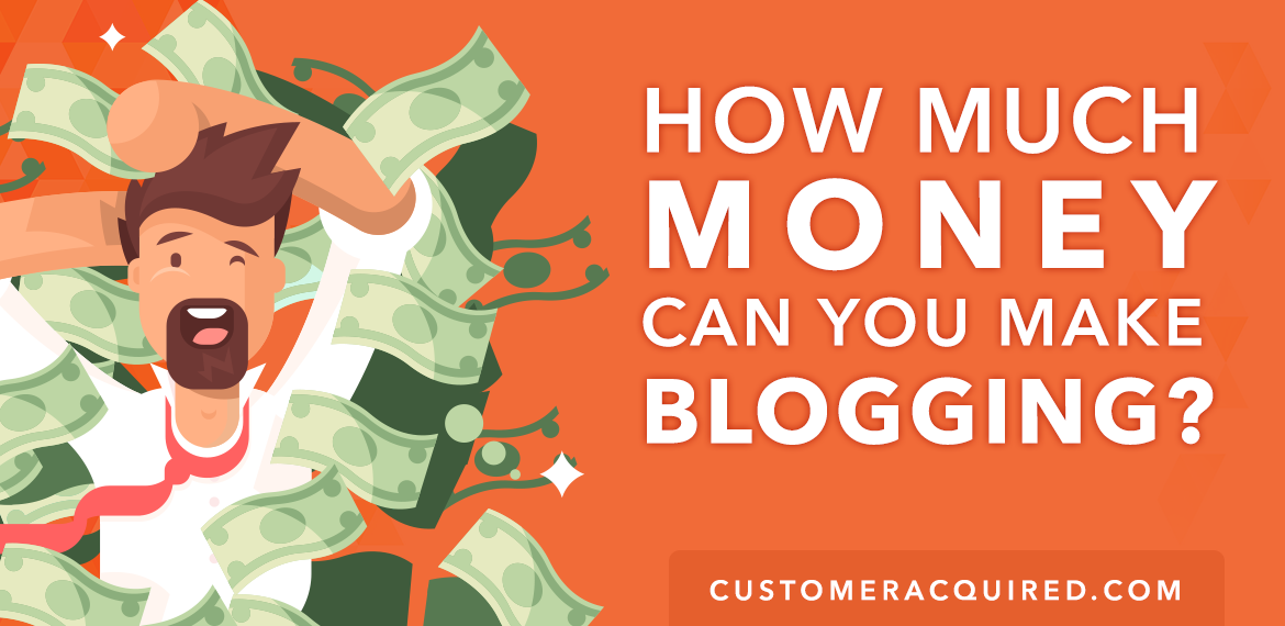 how much money can you make blogging graphic