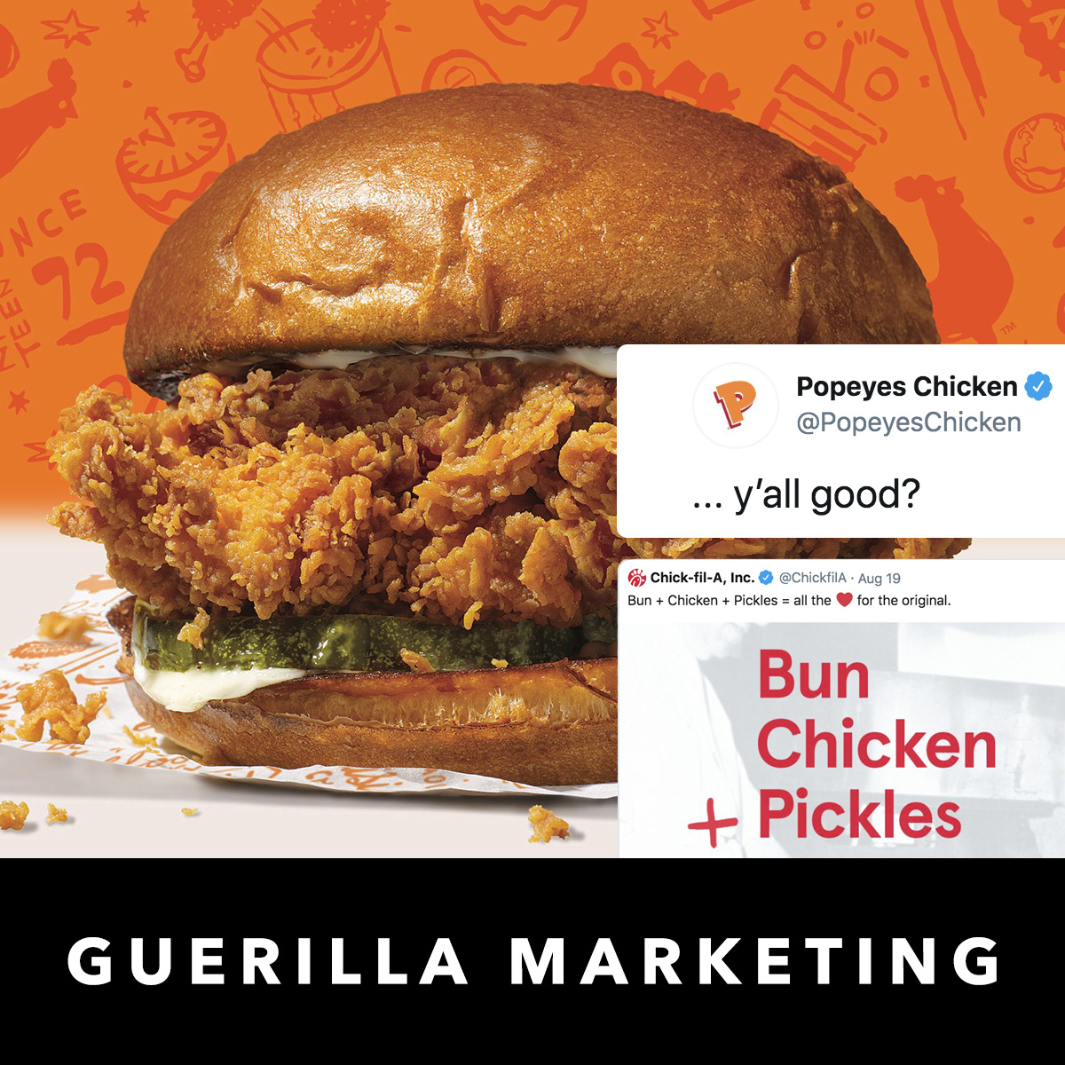 Popeyes vs Chick-Fil-A Guerilla Marketing