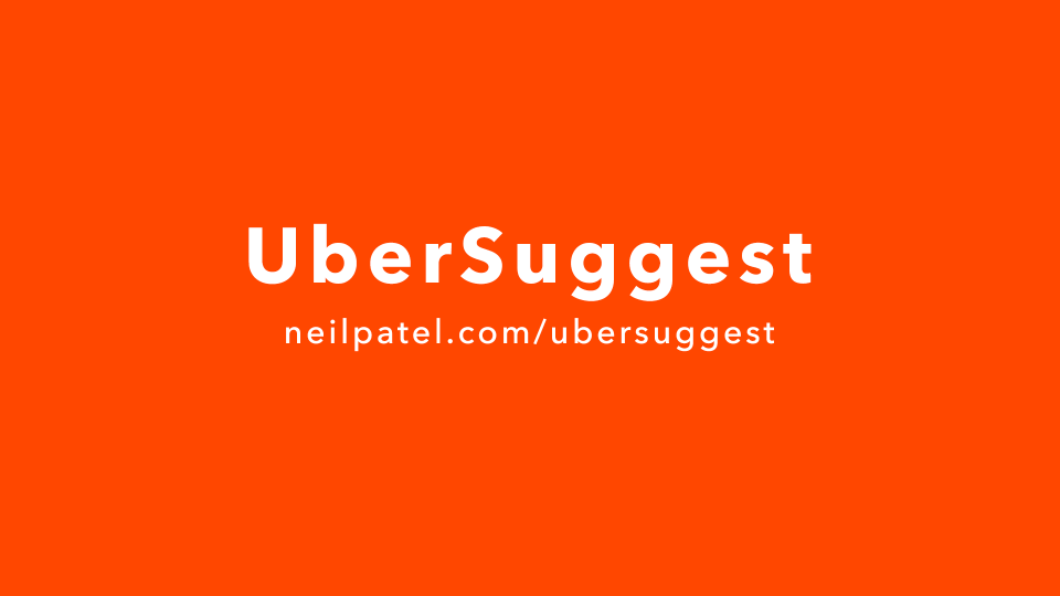 UberSuggest