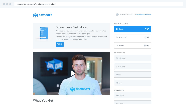 SamCart 1-Click Checkout App