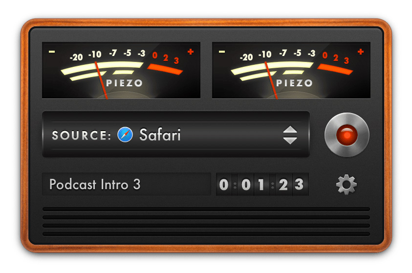 Piezo Mac App for Recording Audio