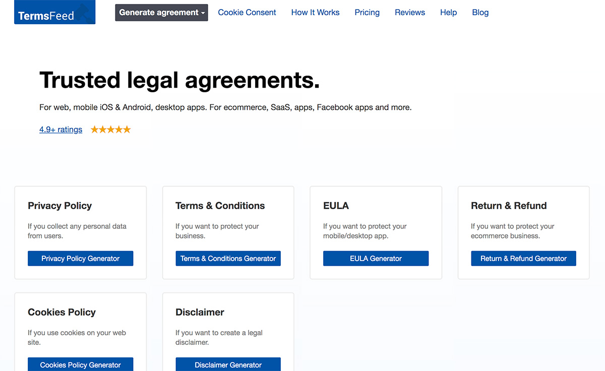 TermsFeed Legal Agreement Generator