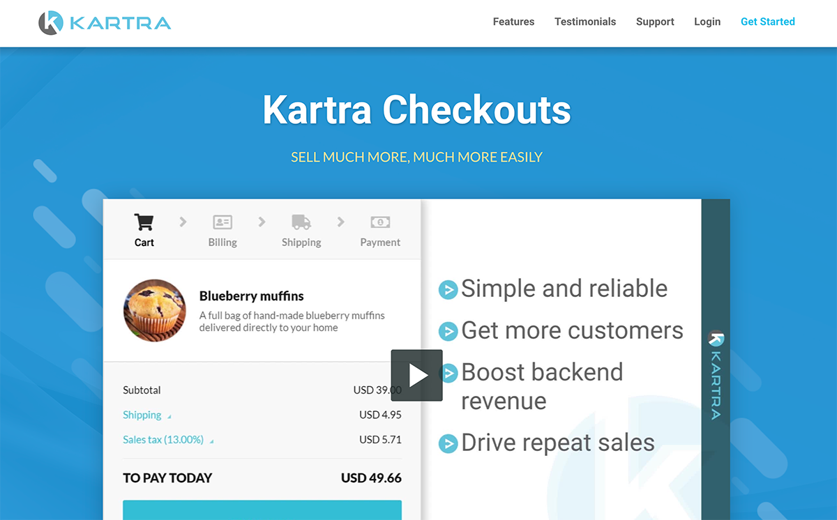 Kartra Checkout Funnel Builder