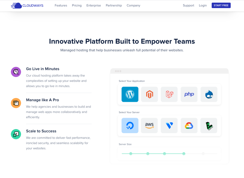 CloudWays Website Hosting for WordPress and PHP Apps