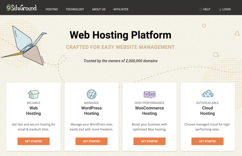 Siteground Affordable Website Hosting