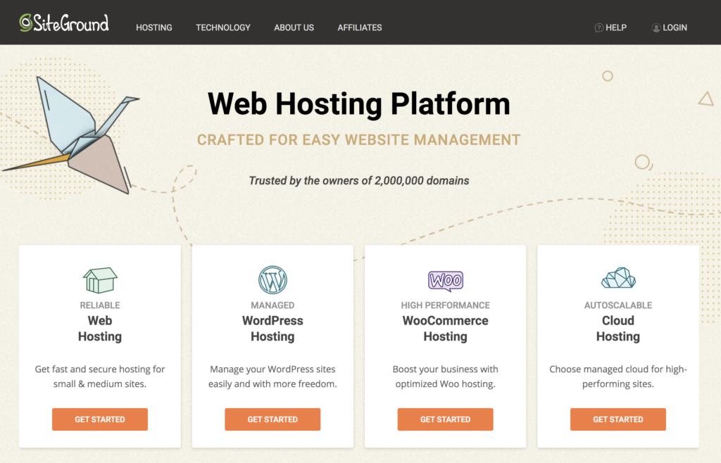 Siteground Affordable Website Hosting