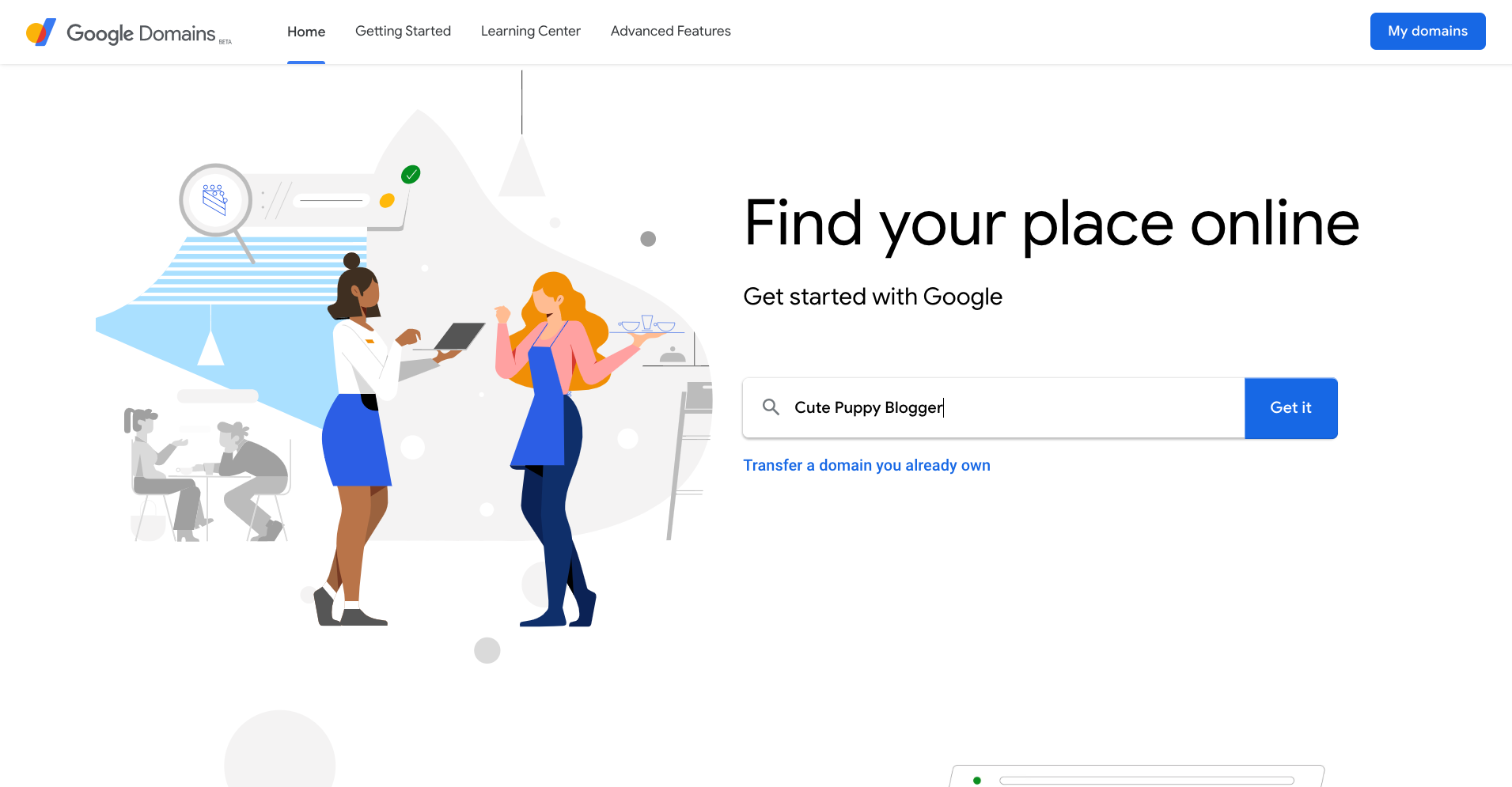 Use Google Domains to buy your next domain name
