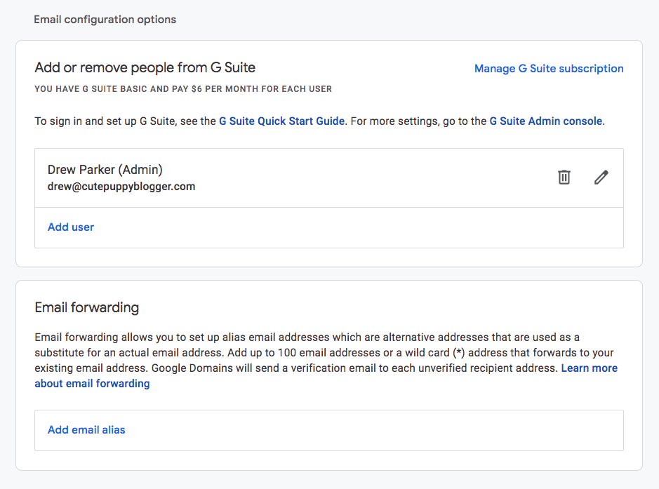 Get a professional email address from G Suite