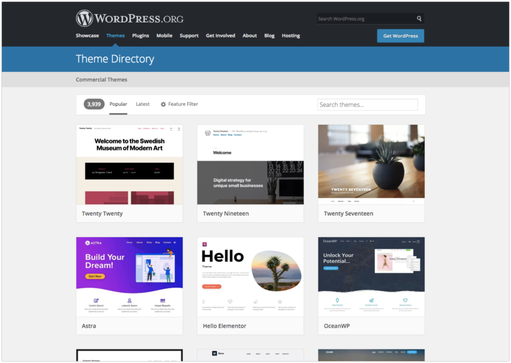 Free WordPress Theme Directory