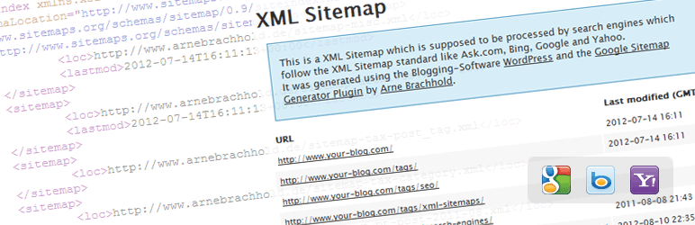 XML Sitemap Plugin Screenshot