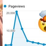 Screenshot of 20,000 website visitor proof