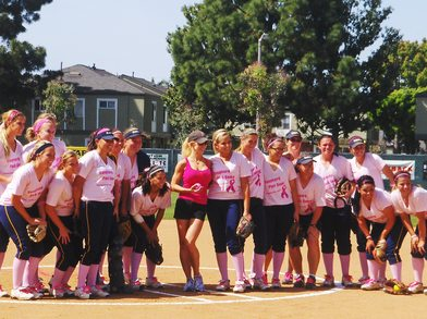 """Playing Ball For A Cure"" T-Shirt Photo"