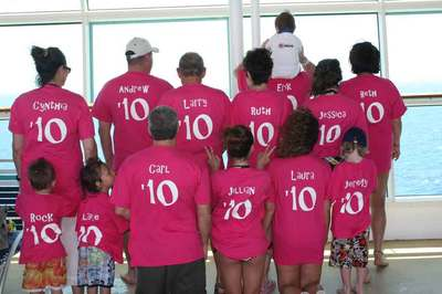 Family Cruise (Back) T-Shirt Photo