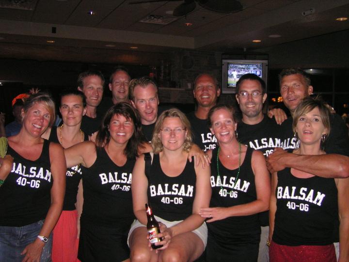 Balsam Buddies Turning 40 In 2006 T-Shirt Photo