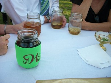Koozies Over Mason Jars?  Why Not!!! T-Shirt Photo