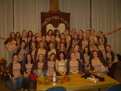 Theta Phi Alpha's Autumn Angel 2006 T-Shirt Photo