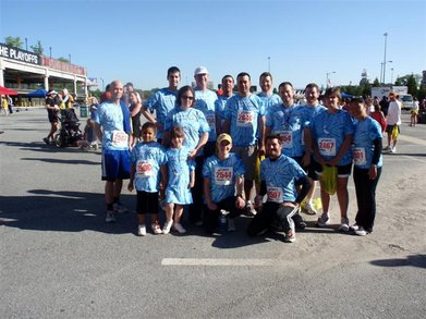 Center Stage At The Radiant Sprint For Cancer T-Shirt Photo