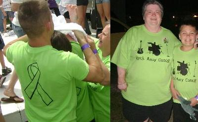 Rock Away Cancer Relay For Life T-Shirt Photo