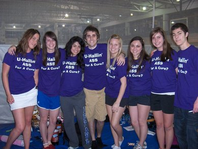 U Hallin Ass University Hall Relay For Life T-Shirt Photo