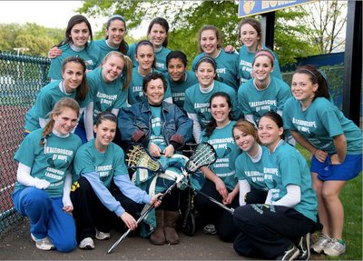Cranford Varisty Lacrosse Ovarian Cancer Fundraiser T-Shirt Photo