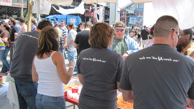 Serving The Crowd At The 2010 Chili Cook Off T-Shirt Photo
