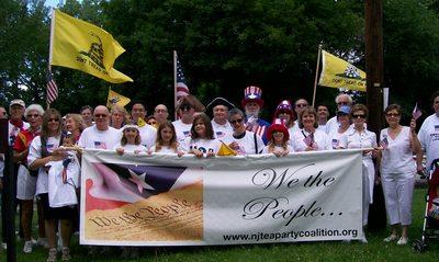 Patriots At July Parade T-Shirt Photo