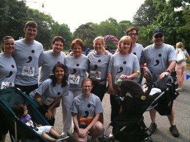 Team Semicolon 2010 Colon Cancer Race T-Shirt Photo